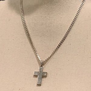 Jewelry - Italian silver chain and cross.